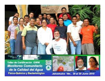 Monitoreo Comunitario de la Calidad del Agua Monitoreo ...