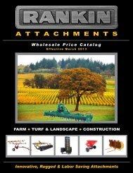 Wholegoods Price List - Rankin Equipment Co.