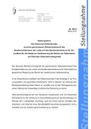 Deutscher Richterbund (PDF, 133 KB, Datei ist nicht barrierefrei)