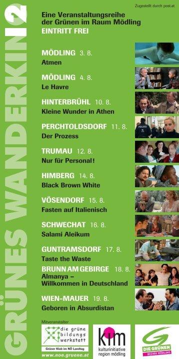 Folder - Wanderkino - Die Grünen