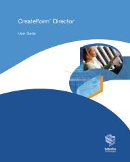 Create!form Director User Guide - Bottomline Technologies