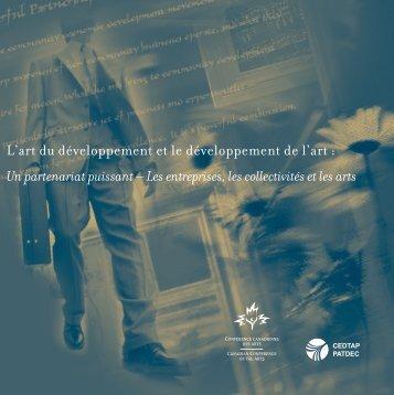 L'art du développement et le développement de l'art - Carleton ...