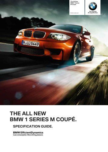 the all new bmw 1 series m coupé