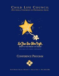Let YourStar Shine Bright... Let Your Star Shine ... - Child Life Council