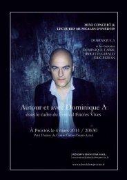 Autour et avec Dominique A - Salon du livre de Provins
