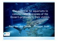 The potential of aquariums to communicate with their visitors in