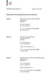 INTERNET (www.prfl.llv.li) - Regierung des Fürstentums Liechtenstein