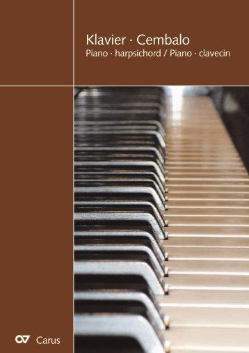 Klavier · Cembalo