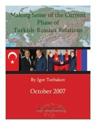 Making Sense of the Current Phase of Turkish-Russian Relations ...