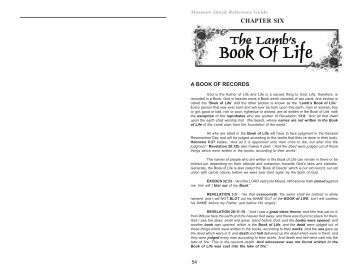 THE LAMB'S BOOK OF LIFE - End Time Message