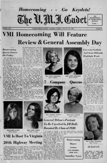 The Cadet. VMI Newspaper. October 28, 1966 - New Page 1 [www2 ...