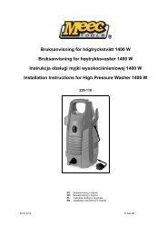 Bruksanvisning för högtryckstvätt 1400 W Bruksanvisning for ... - Jula