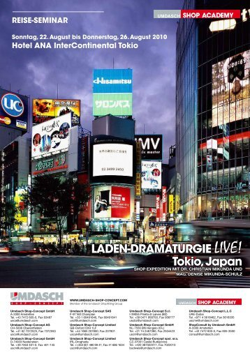 LADEN-DRAMATURGIE LIVE! Tokio, Japan - Umdasch Shopfitting