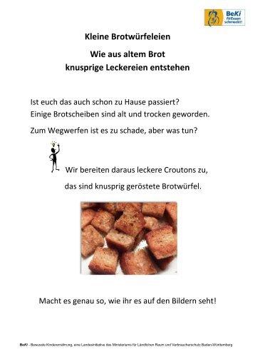 BeKi-Croutons-Werkstatt