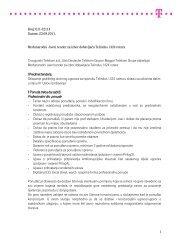 23.09.2011. Međunarodni Javni tender za izbor dobavljača Telindus ...