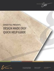 View or Download our .pdf Quick Help Guide - Emser Tile