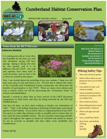 Cumberland Habitat Conservation Plan - Cumberland HCP