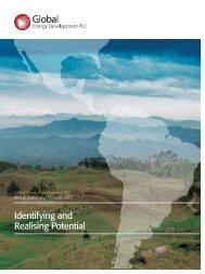 Annual Report 2007 - Global Energy Development