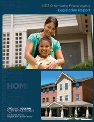 2013 OHFA Legislative Report - Ohio Housing Finance Agency