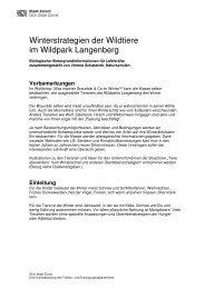 Winterstrategien der Wildtiere im Wildpark Langenberg