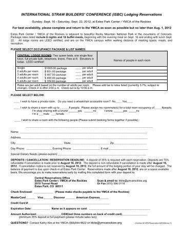 registration form - 2012 International Straw Builder's Conference