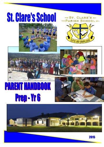 Parent Handbook - St Clare's School