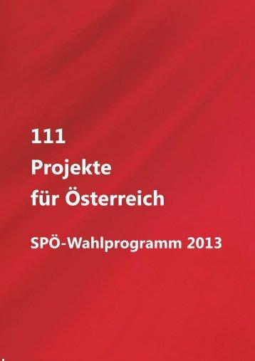 111 Projekte für Österreich - SPÖ