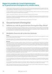 Rapport du président du Conseil d'administration sur le ... - Vinci