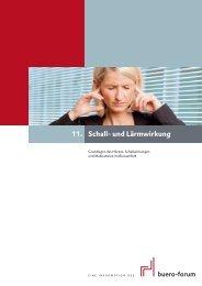 Schall- und Lärmwirkung 11. - im buero-forum des bso