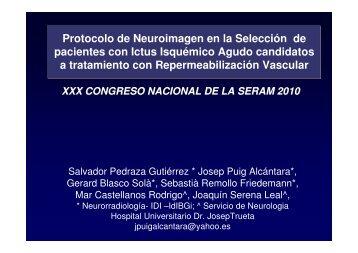Protocolo de Neuroimagen en la Selección de pacientes con Ictus ...