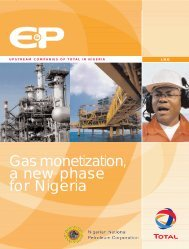 Gas Monetization, a new phase for Nigeria (pdf ... - TOTAL Nigeria