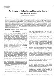 An Overview of the Predictors of Depression Among Adult Pakistani ...