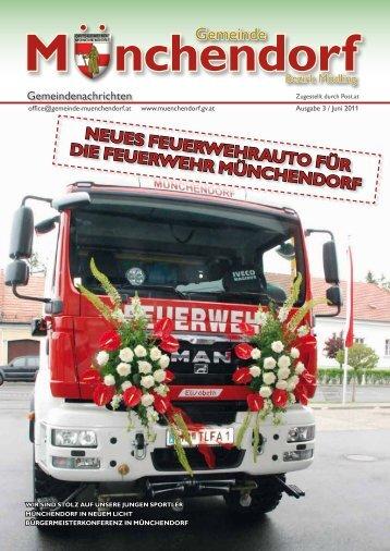Neues Feuerwehrauto Für die Feuerwehr MüNcheNdorF Gemeinde
