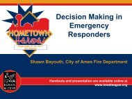 Decision Making in Emergency Responders - Iowa League of Cities