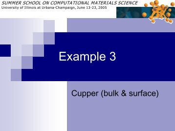 Example-3 - Materials Computation Center - University of Illinois at ...