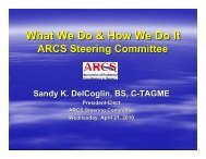 ARCS Steering Committee - Association of Program Directors in ...