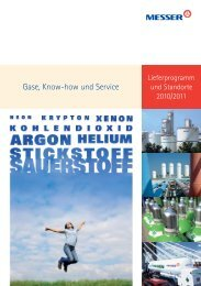 Gase, Know-how und Service