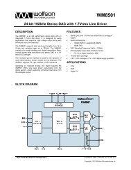 WM8501, Rev 4.3 - Wolfson Microelectronics plc