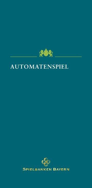 AUTOMATENSPIEL - Spielbanken Bayern