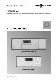 VITOTRONIC 050 Notice d'utilisation - Viessmann