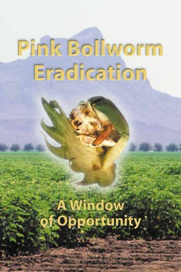 Pink Bollworm Eradication - A Window of Opportunity