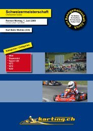 Schweizermeisterschaft - Karting.ch