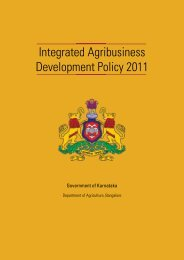 Integrated Agribusiness Development Policy 2011 - Government of ...
