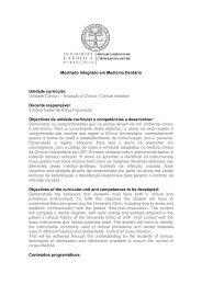 Anexo IX - Unidade Clínica I - Iniciação à Clínica / Clinical Initiation