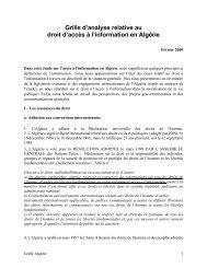 Grille d'analyse Algérie - Transparency