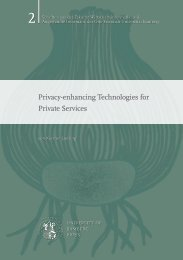 Privacy-enhancing Technologies for Private Services - OPUS4