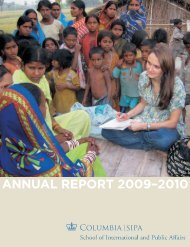 annual report 2009–2010 - School of International and Public Affairs ...