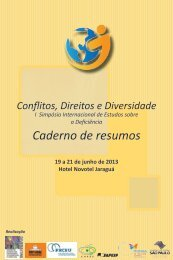 Caderno de resumos - Diversitas - USP