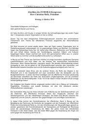 Abschluss des EURORAI-Kongresses Herr Christian ... - Eurorai.org