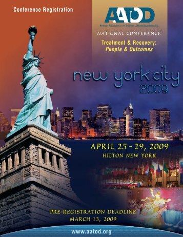 2009 AATOD Standard Registration Brochure